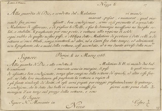 La penna da scrivere - Francesco Polanzani, 1768 o