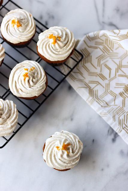 Grain-free Cardamom Vanilla Bean Cupcakes - Gluten-free and Dairy-free