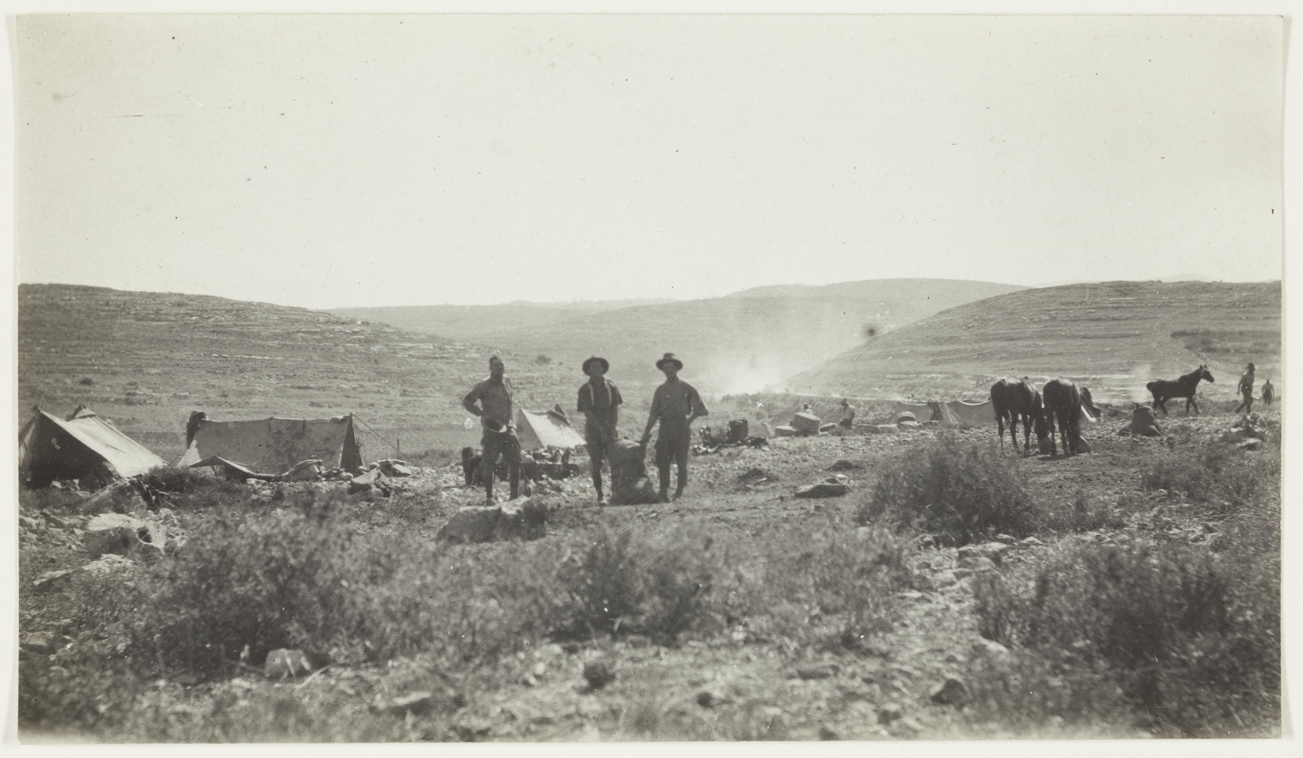 Camp at Bethlehem  by J.F. Smith of the 7th Light Horse in Egypt and Palestine, c. 1914-1918