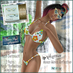 Akamai Female Swimsuit & Sunglass Set