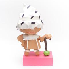 วิธีทำโมเดลกระดาษคุกกี้รสคุกกี้แอนด์ครีม  (Cookie Run Cream Cookie Papercraft Model) 026