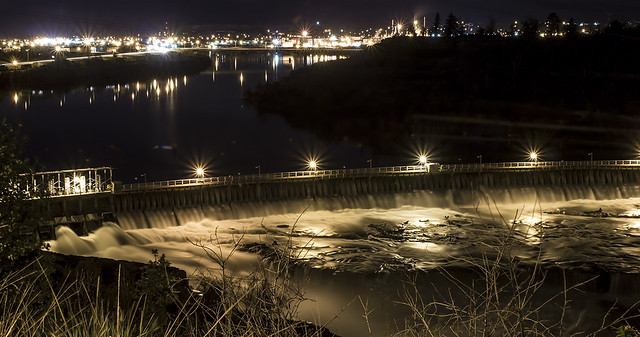 Great Falls After Midnight