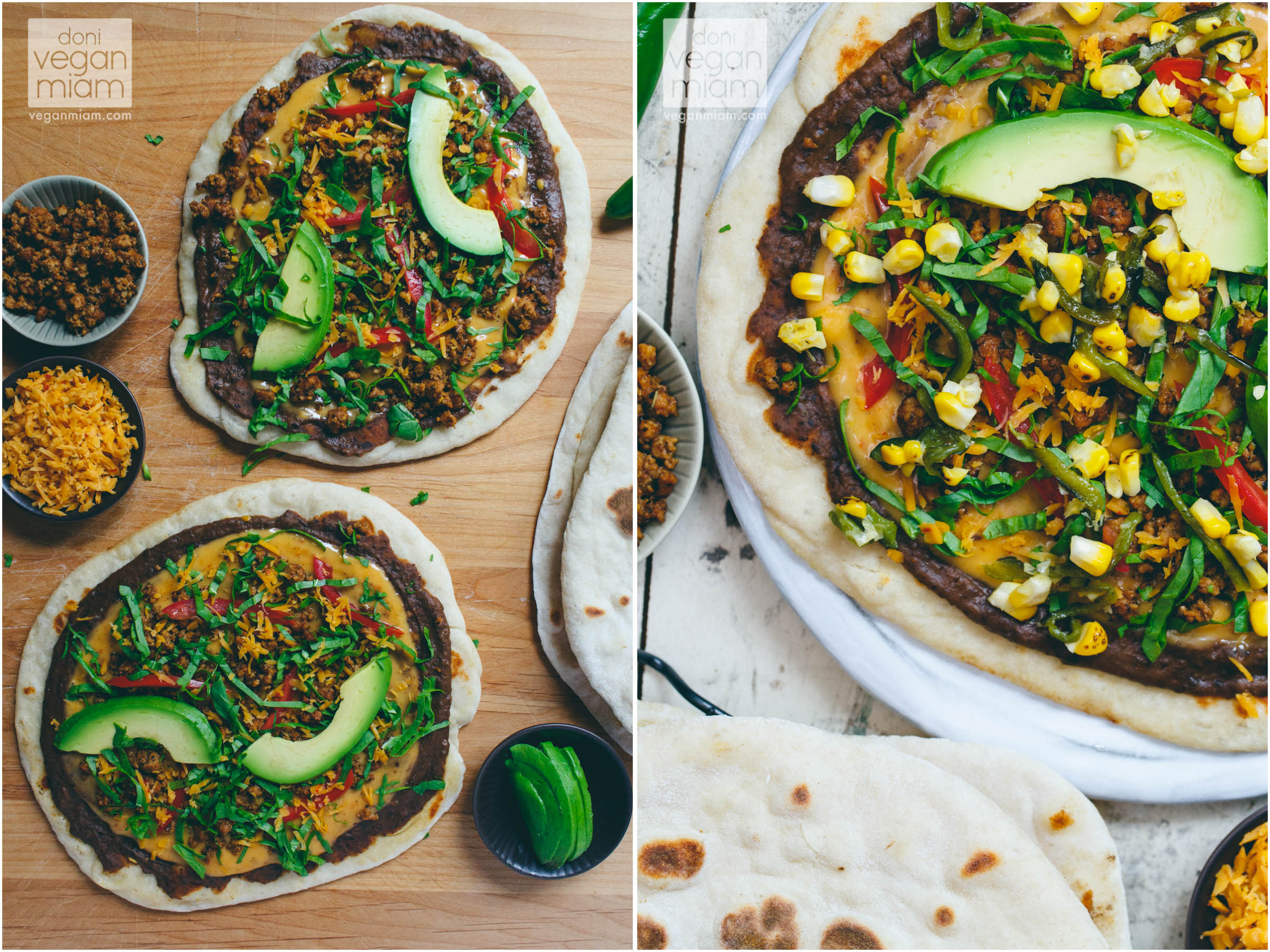 Taco Beer Flatbread Pizza with Roasted Corn & Poblano