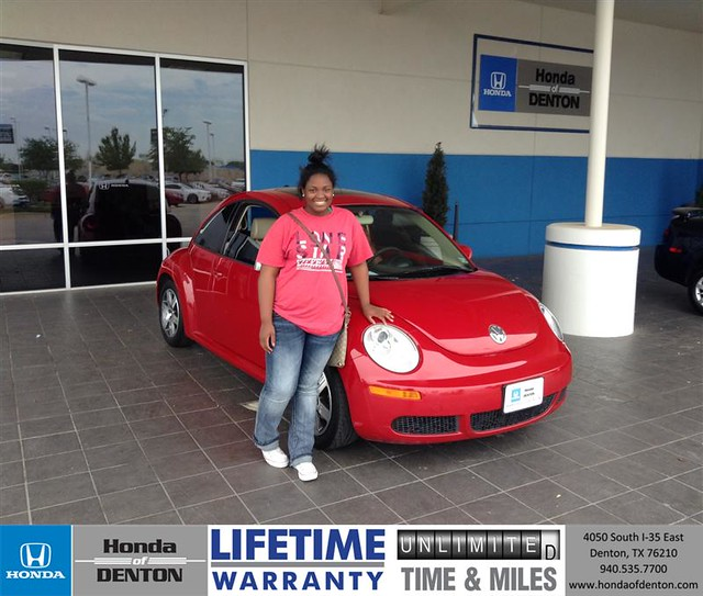 congratulations to kathy brass on your vw beetle
