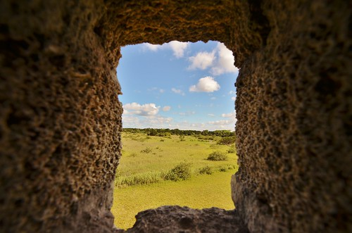 sky window monument clouds view florida fort ryan spanish national staugustine nationalmonument fortmatanzas matanzas grennan rgrennan