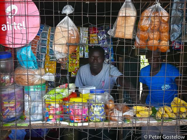 Local shop in rural Kenya