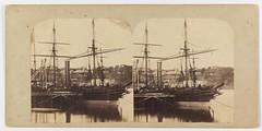 At the 'Dry Docks', the Bombay alongside [1862] [Close-up of P&O Bombay at Mort's Dock, Balmain]
