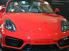 wheel(0.0), porsche cayman(0.0), automobile(1.0), automotive exterior(1.0), vehicle(1.0), performance car(1.0), automotive design(1.0), porsche boxster(1.0), porsche(1.0), auto show(1.0), bumper(1.0), land vehicle(1.0), luxury vehicle(1.0), convertible(1.0), supercar(1.0),