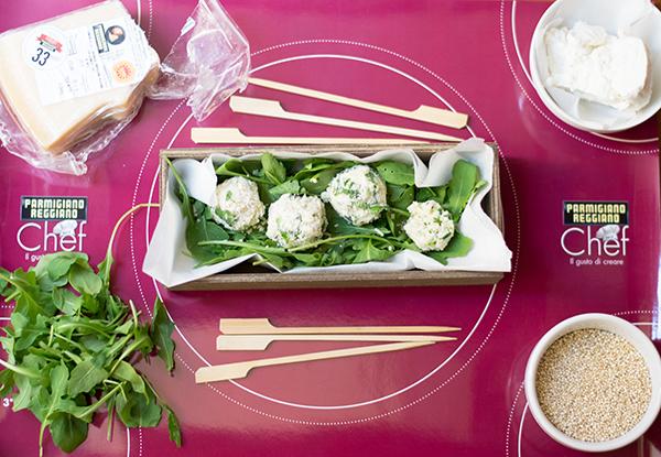 Tartufini salati con parmigiano reggiano