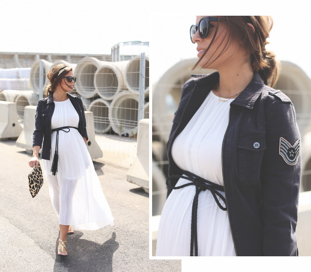 DEF vestido largo blanco suelto
