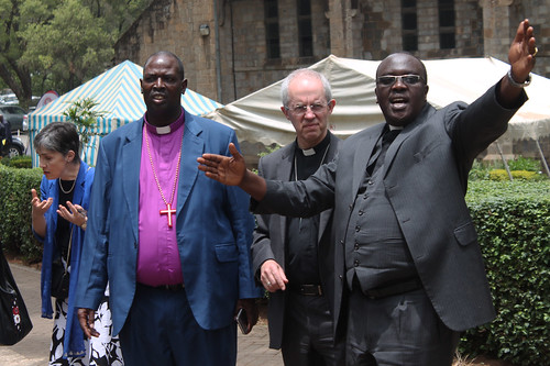 The Archbishop of Canterbury and Archbishop of The Anglican Church of Kenya The Most Rev. Jackson Ole Sapit at the All. Saints' Cathedral