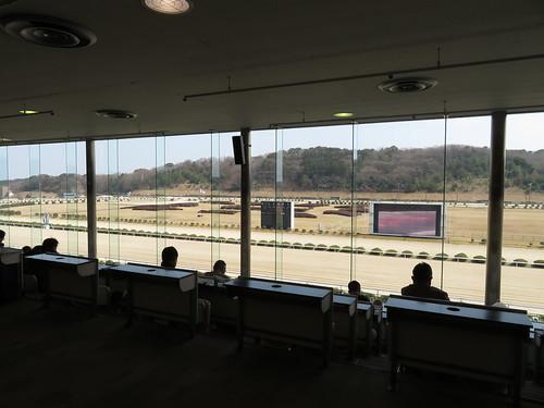 佐賀競馬場の指定席からの眺め