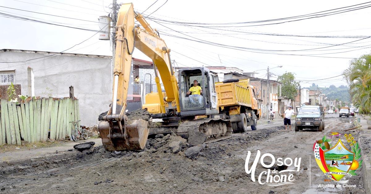 Iniciaron trabajos para terminar la calle 24 de Mayo en Chone
