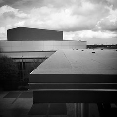 Afternoon partly cloudy #architecture #architecturephotography #monochrome #monochromephoto #building #clouds #partlycloudy