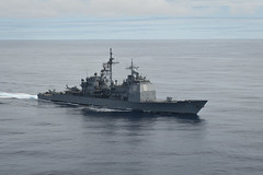In this file photo, USS Princeton (CG 59) transits through the South China Sea in May. (U.S. Navy photo by Mass Communication Specialist 3rd Class Raul Moreno Jr.)