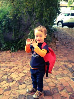 Arnan's first day of school