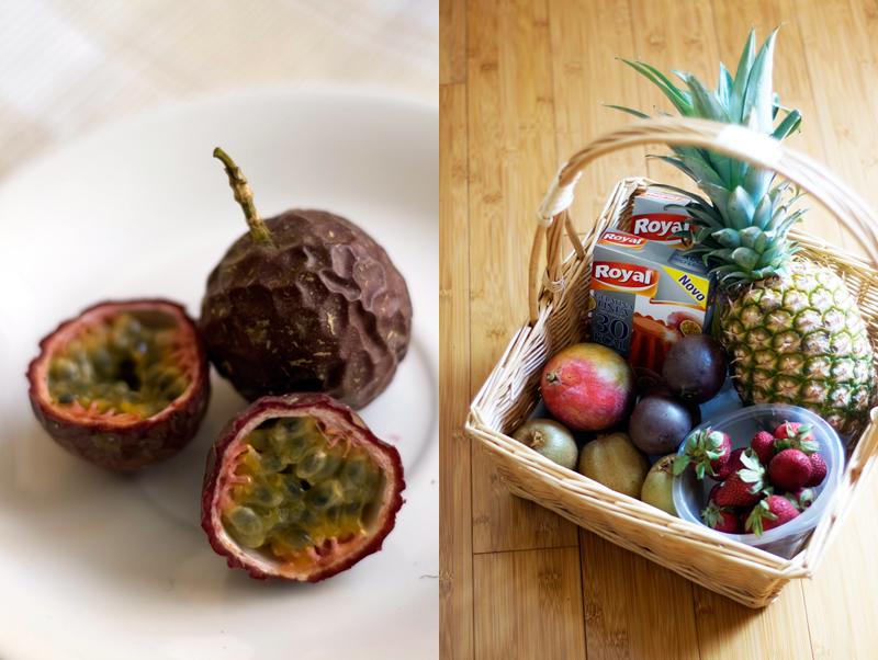 Maracujás + cesto de fruta