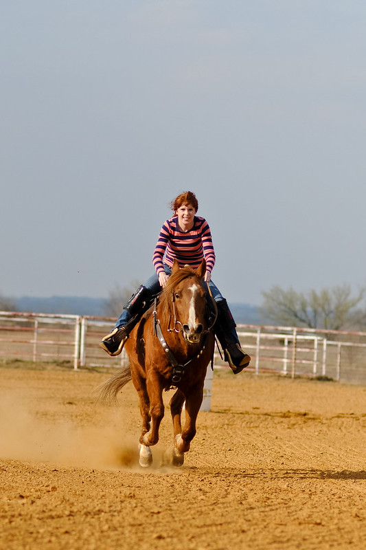 Jenn: Barrel Racing