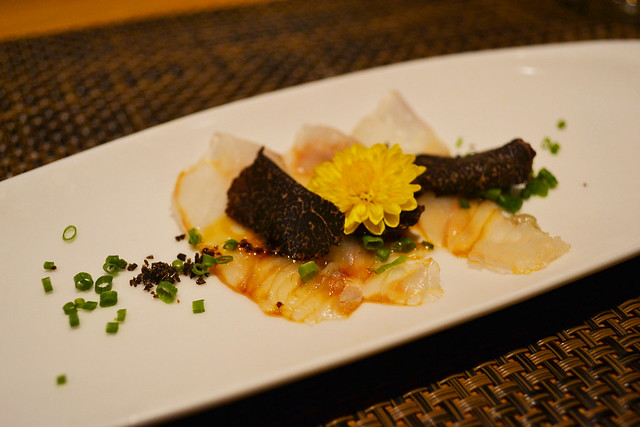 Tai Sashimi with Truffle, Fat Cow, Singapore