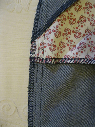 Grainline Moss Mini - inside side seam detail