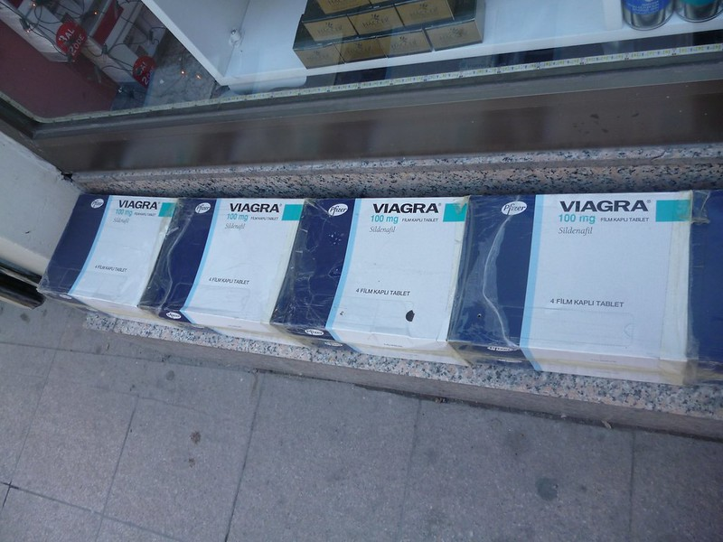 Viagra boxes on the street