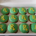 R Lettered Sugarpaste covered Cupcakes