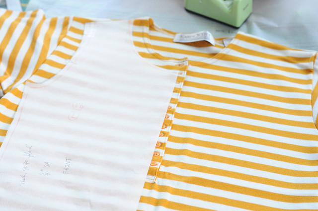 making an upcycled tee