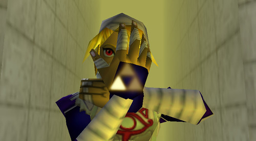 Zelda as Sheik in Ocarina of Time.