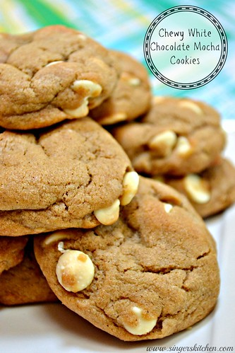 Chewy White Chocolate Mocha Cookies