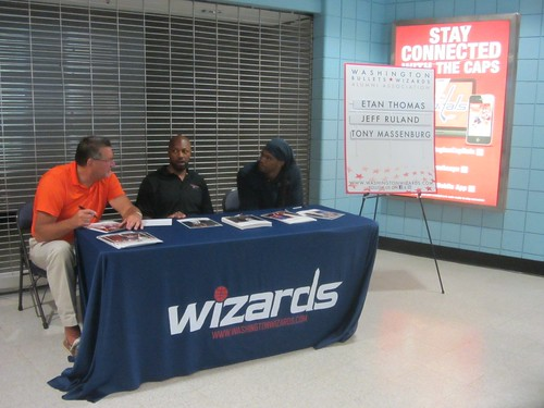 washington wizards, summerfest, adam mcginnis, truth about it, fans, nba, tai, verizon center, monumental sports, wizards, basketball, autograph, etan thomas, jeff ruland