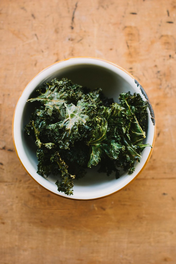 salt + vinegar kale chips