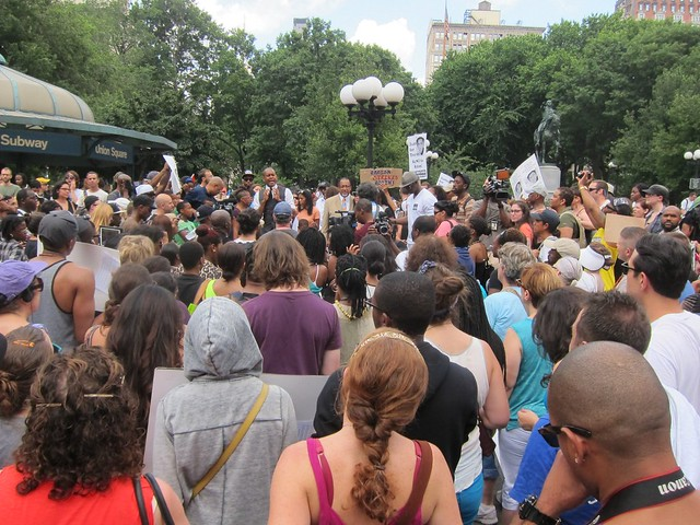 Justice For Trayvon Martin, Union Square: Crowd listening to Kevin Powell