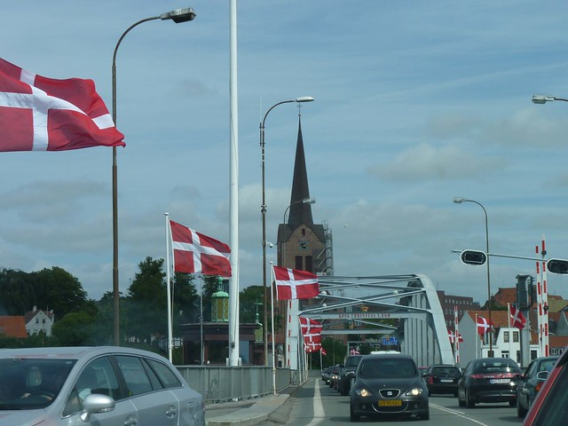 Danish flags in Sønderborg