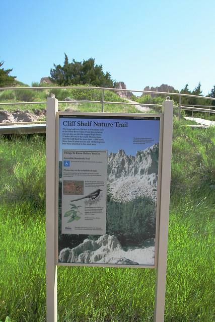 Cliff Shelf Nature Trail Sign
