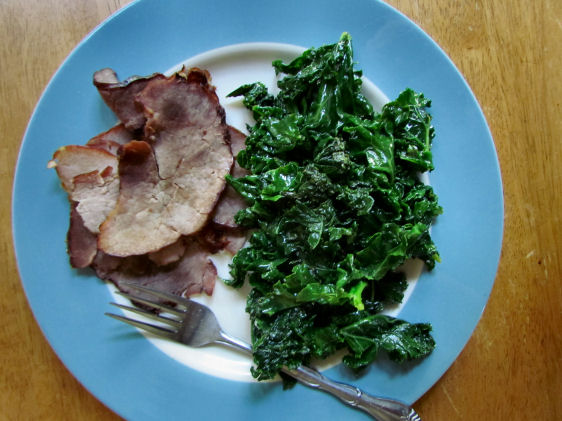 Ham and Sauteed Kale