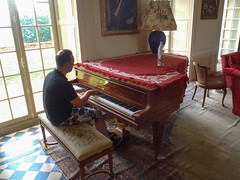 Justin plays piano