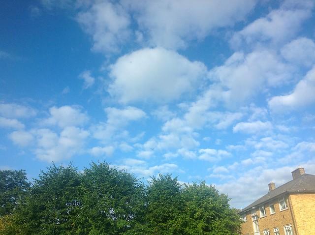 Blue sky end August