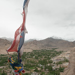 Prayer Flags Over Leh Town - Ladakh, India