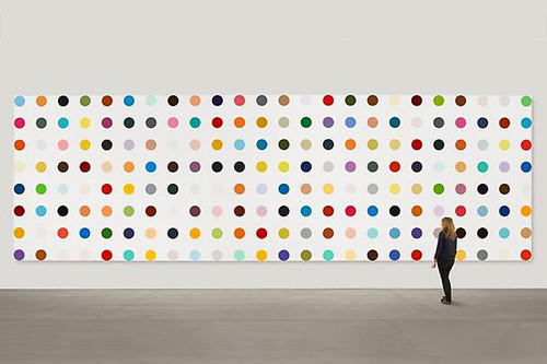 damien hirst spot painting exhibition