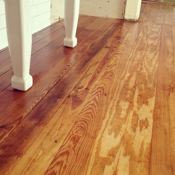The floor finishing is underway! #whataday #diy #kitchen #remodel