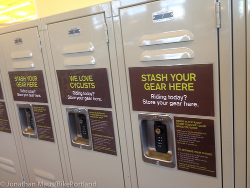 Bike gear lockers at New Seasons-3