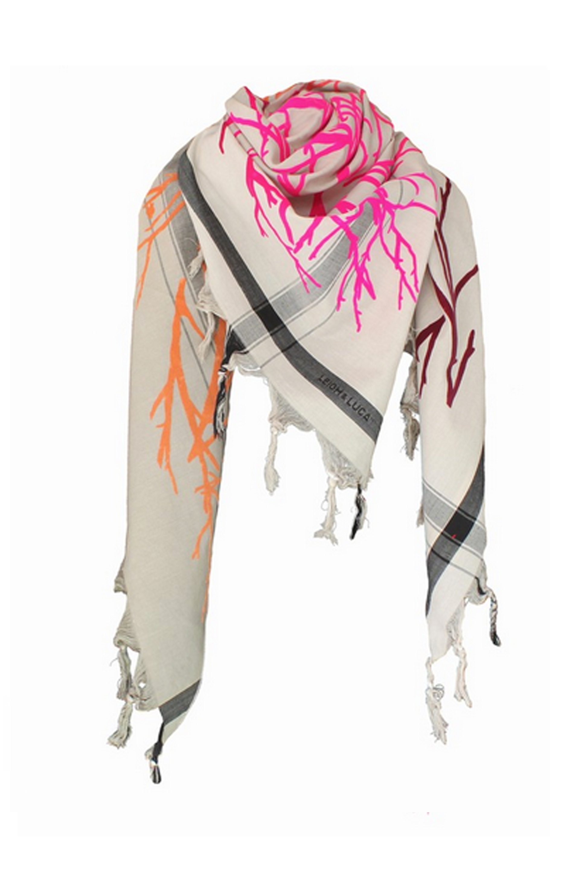 Branch Triangle Multicolor Scarf