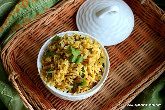 capsicum- rice