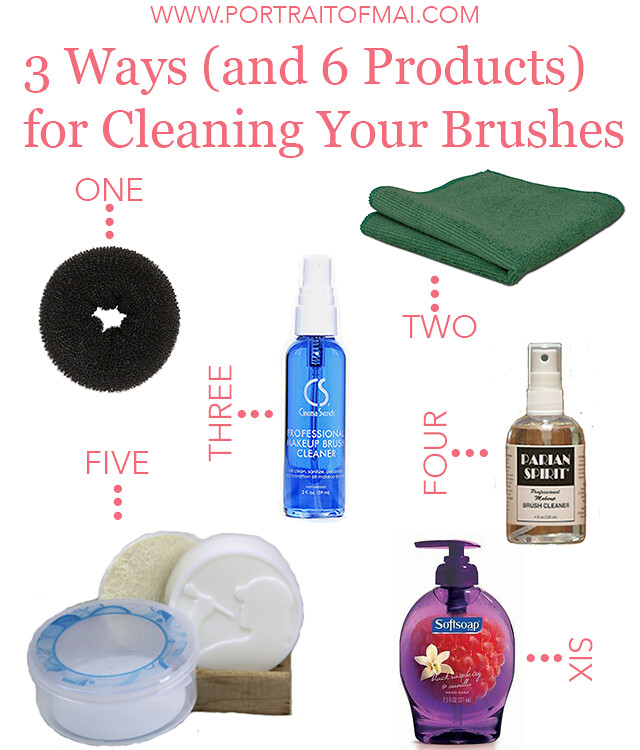 3 ways for cleaning brushes