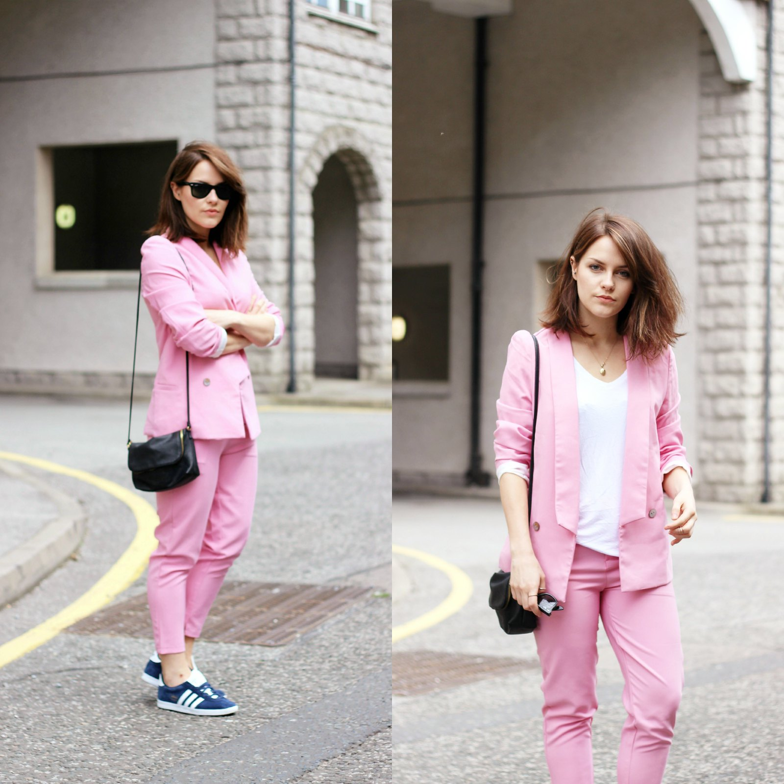 Choies pink trouser suit  6