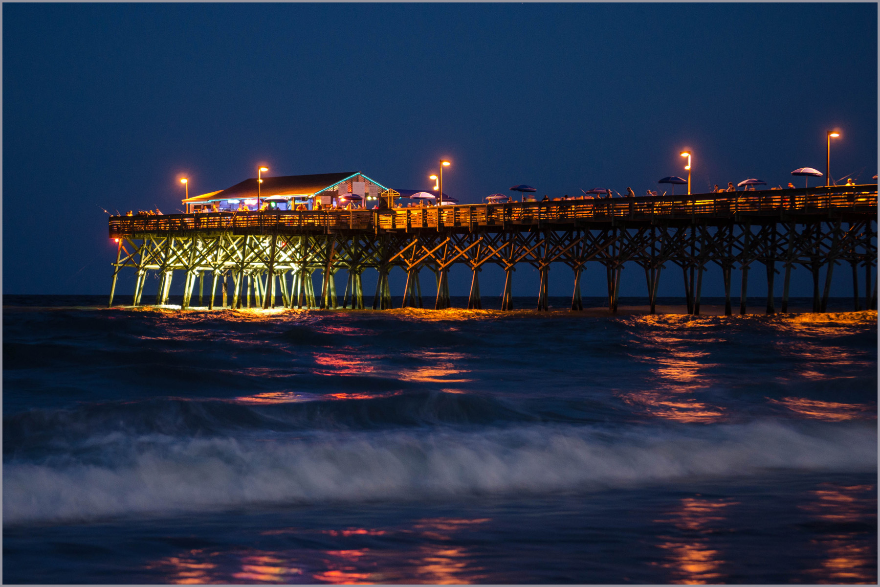 Superior City Beach Night Garden Pier Nikon Long Exposure Time South Carolina Nikkor  1755mm D7000 Home Design Ideas