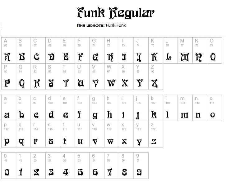 шрифт Funk для Фотошоп