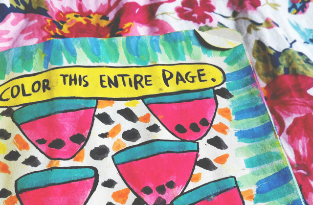 wreck this journal colour this page vivatramp book lifestyle blog uk