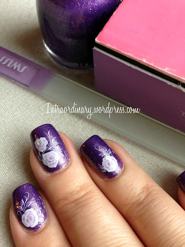 Born Pretty rose nail stickers