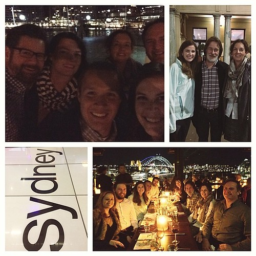 An absolutely perfect last night. Dinner at Cafe Sydney with PK Fabrics. Gorgeous view, great company! Thank you Patrick and Di for taking such great care of me! #quiltabout #redletteraustralia